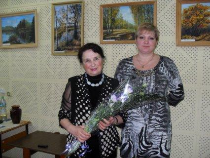 Открытие выставки работ Г.Л. Дорониной в библиотеке