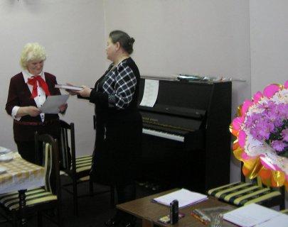 Январь 2011 , творческий вечер Наградовой